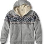 LL Bean's Sherpa Fleece-Lined Hoodie Sweater