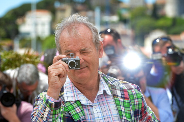 US actor Bill Murray uses a small camera