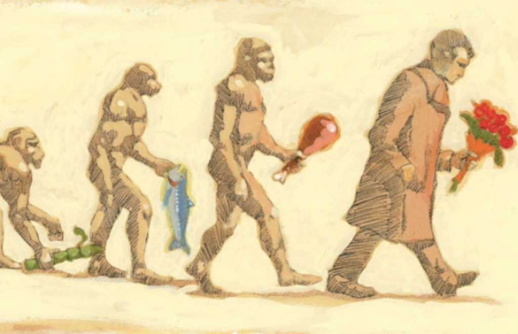 The-Evolution-of-Man-towards-Valentines-Day