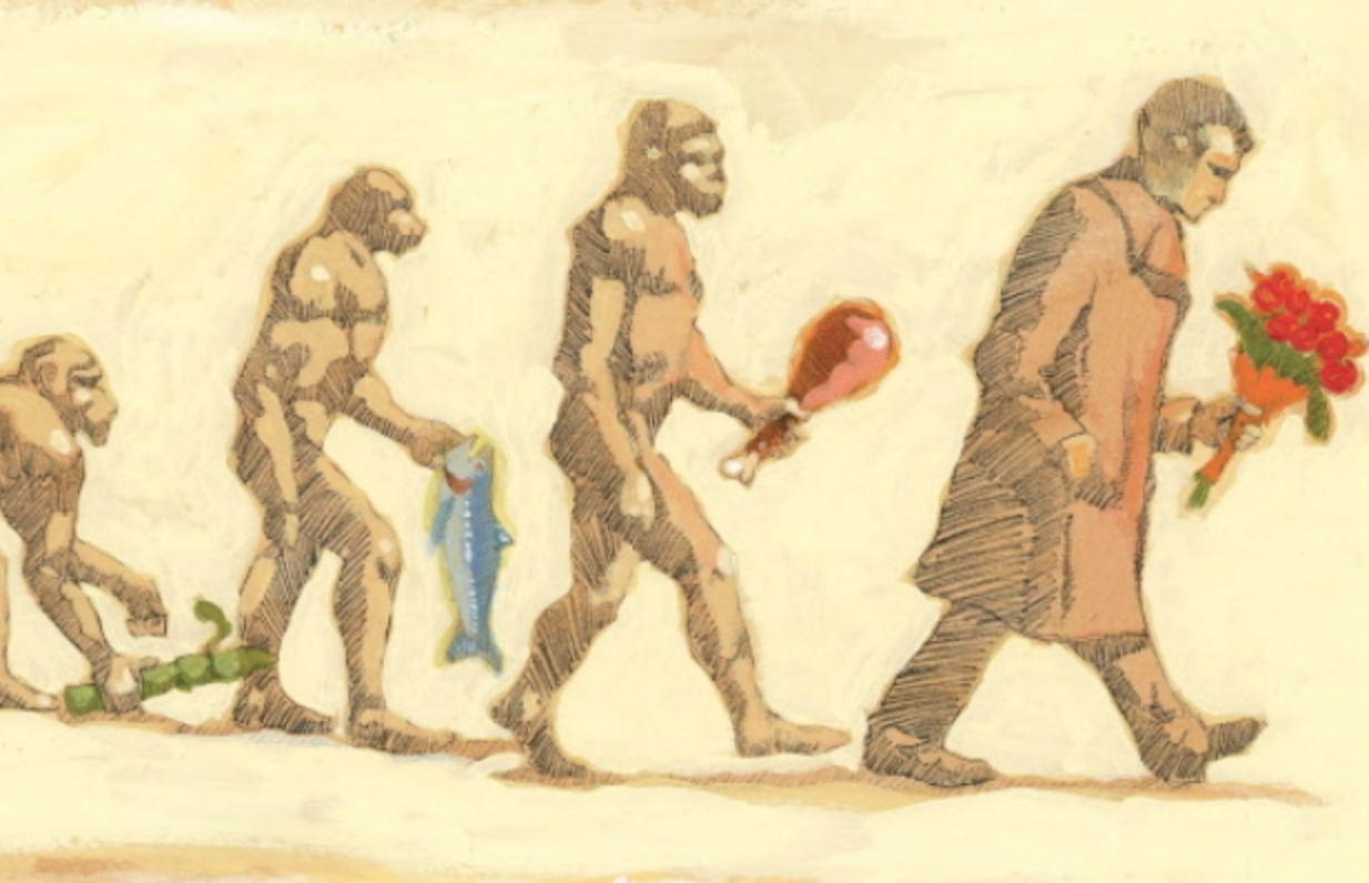 The Evolution Of Man Towards Valentines Day