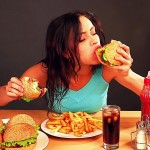 stock-footage-woman-eating-fast-food-time-lapse