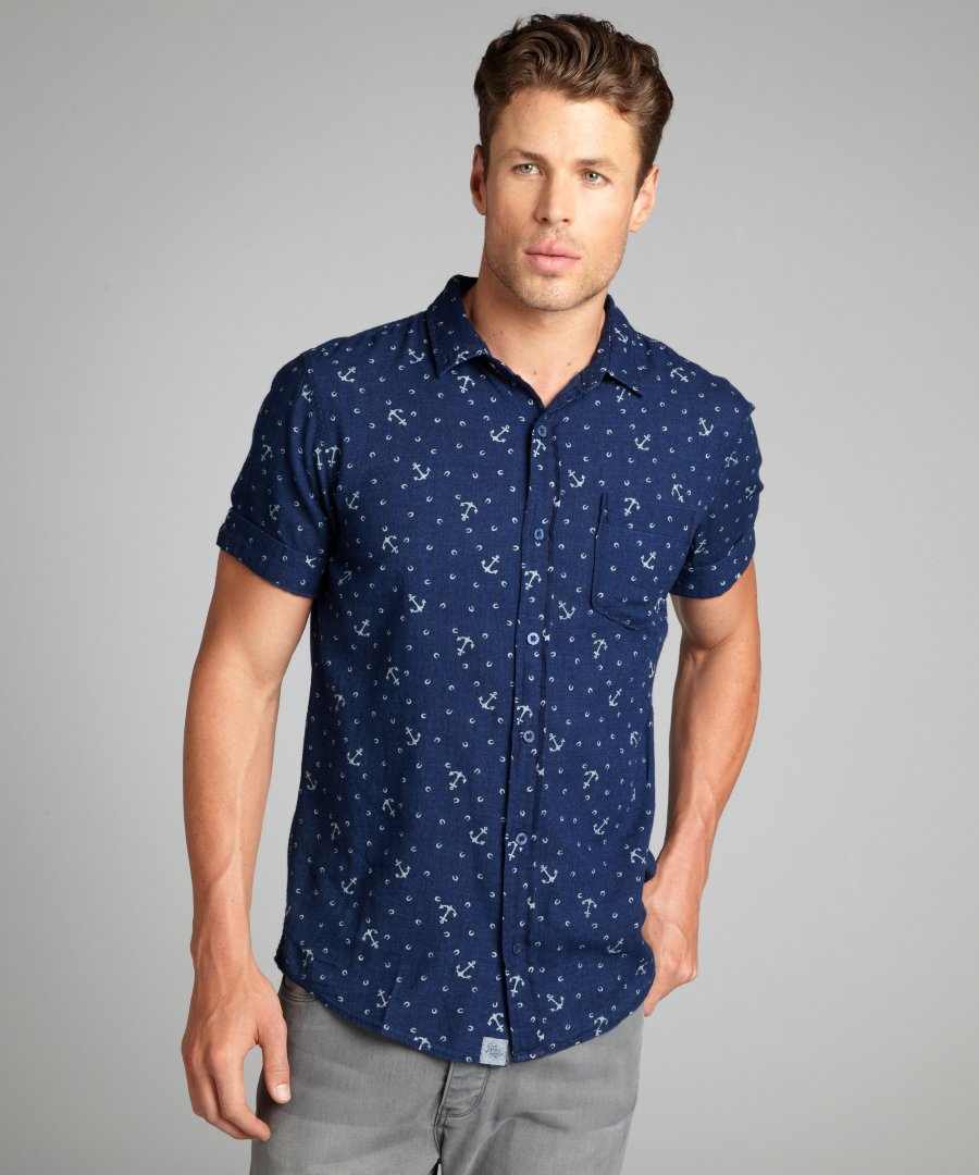 Short Sleeve Mens Button Up Shirts